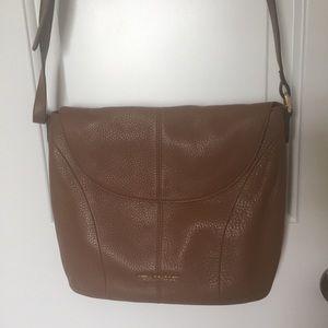 Vera Bradley Brown Leather Crossbody Bag